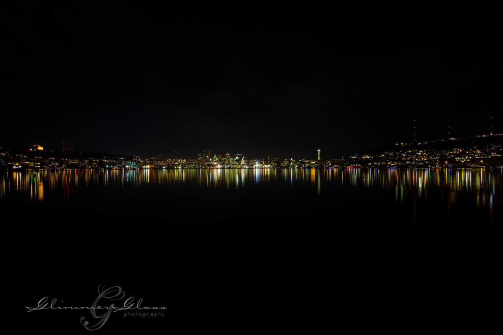 Night shot from Gasworks Park, new year's day