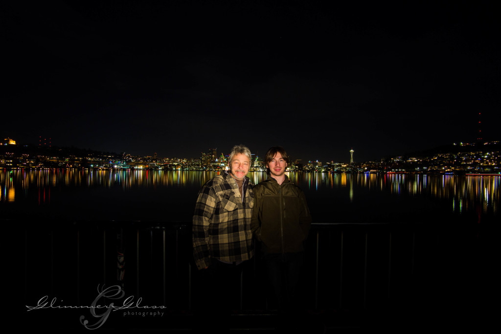 Night shot from Gasworks Park, new year's day using Xenon flash after 8 second exposure.