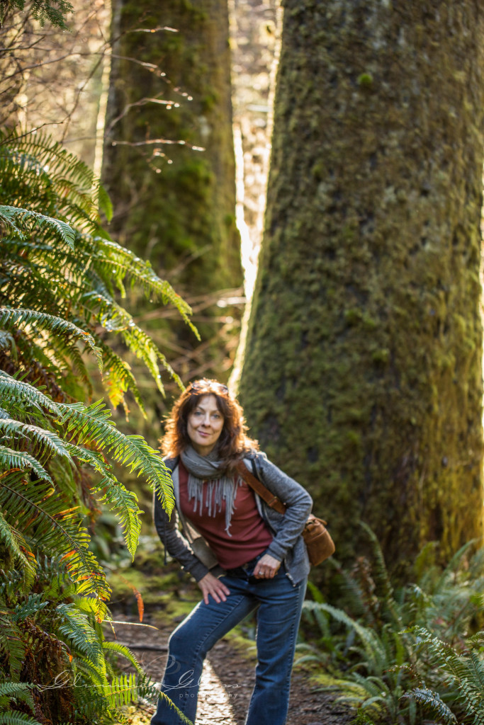Walking in the Rainforest near Lake Quinault
